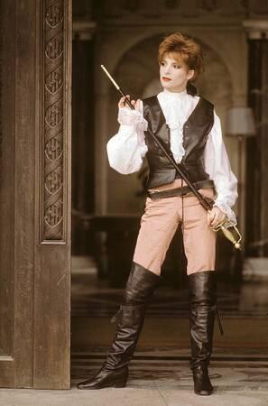 Tournage du clip La Libertine de Mylène Farmer en 1986