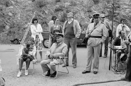Tournage du film Le gendarme et les gendarmettes