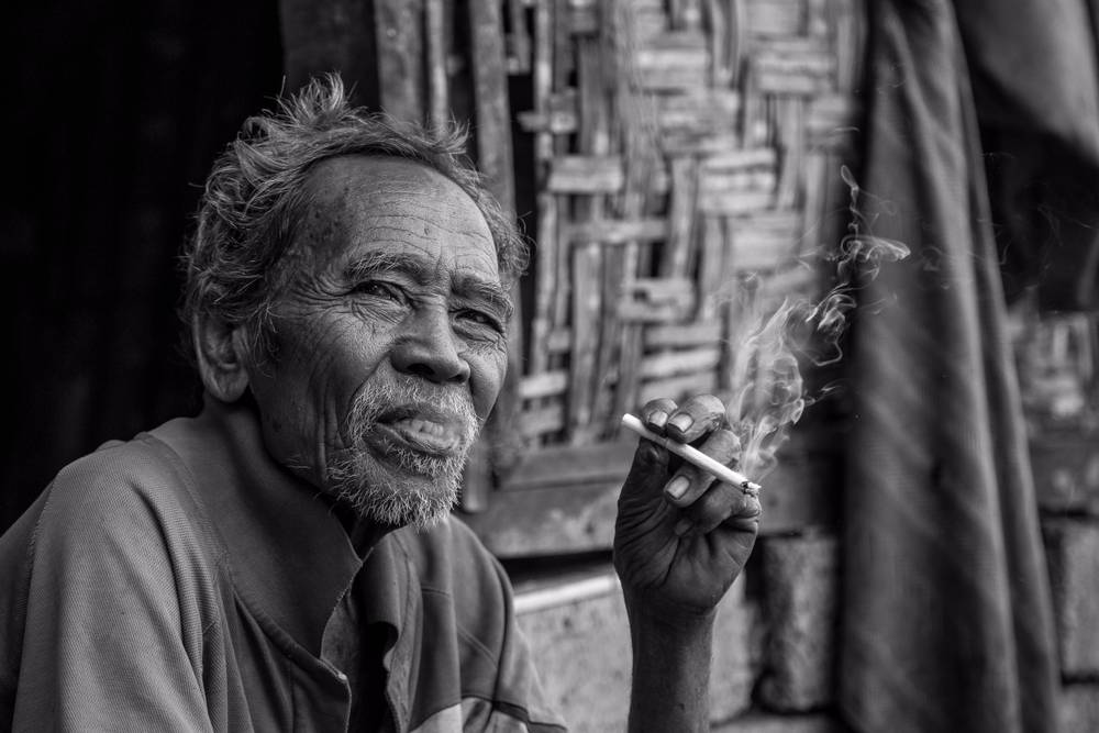 smoking old man michael portillo fine art photography