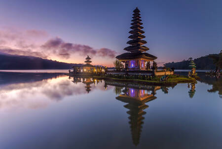 Temple at dusk