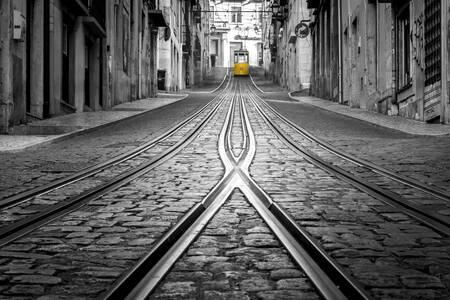 El cruce del tranvía
