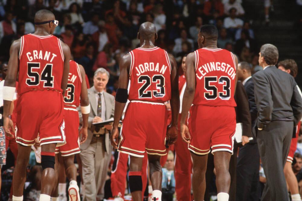 The legendary team of the Bulls in 1992