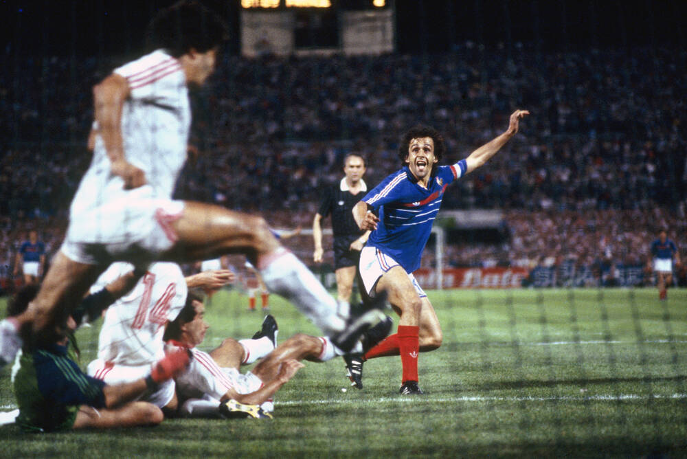 Platini victorious goal - Euro 1984 Semi-final - Photographic print for sale