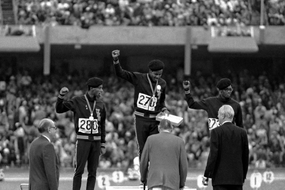 Podium Jeux Olympiques Mexico 1968