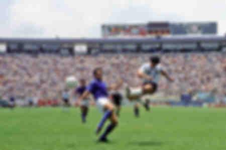 Diego Maradona 1986 Weltmeisterschaft gegen Italien