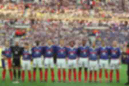 French team against Brazil in 1998