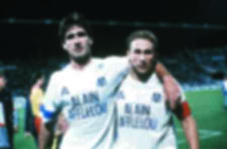 Eric Cantona et Jean Pierre Papin