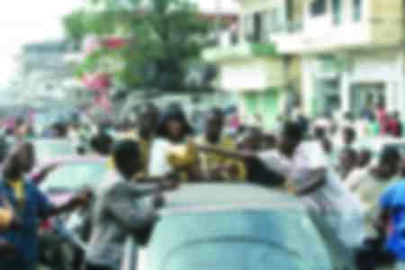 George Weah in Liberia