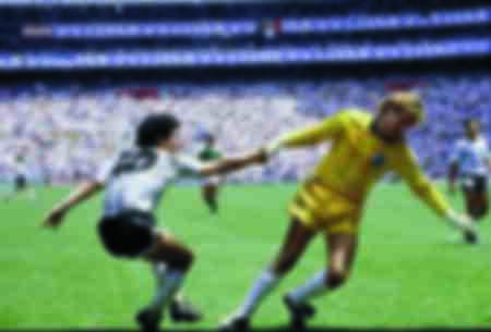 Harald Schumacher lost Diego Maradona af