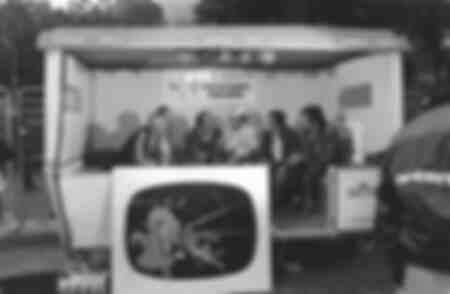 Interview für das Fernsehen nach einer Etappe der Tour de France 1979