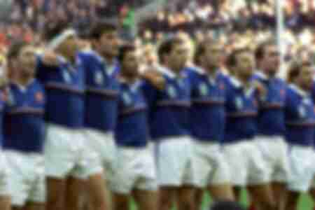 The French team victorious All Blacks in 1999