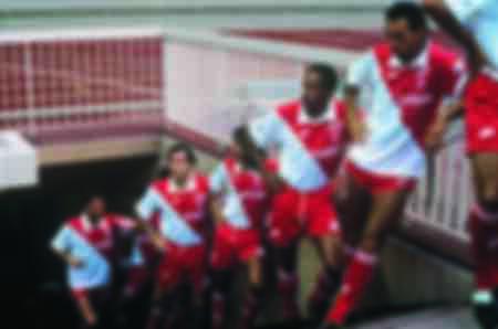 The AS Monaco team during the 1988 season