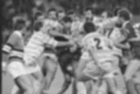 Match de rugby Racing vs Agen en 1990