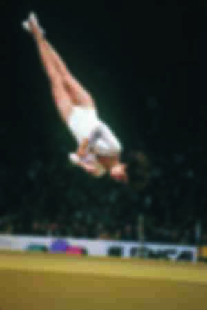 Nadia Comăneci at the Olympic Games in 1976