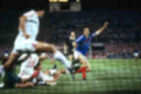 Platini but victorieux Euro 1984 Demi-finale