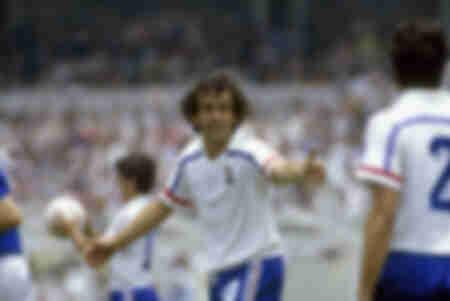 Platini-Weltmeisterschaft Frankreich-Italien 1986