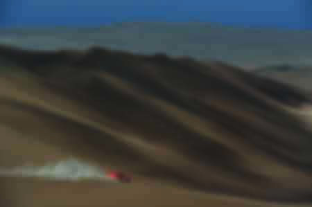 Robby Gordon and Johnny Campbell on the Dakar 2012