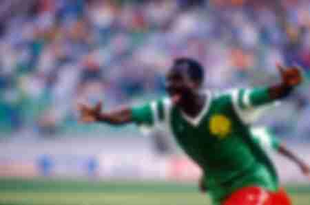 Roger Milla Cameroun-Romanie Coupe du Monde 1990