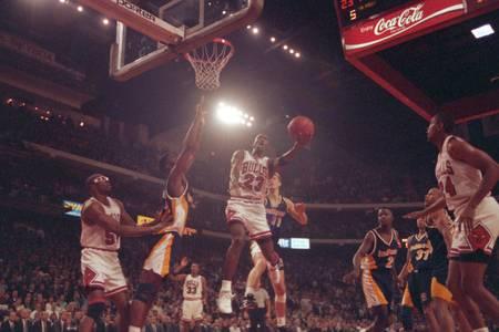 Aktion von Michael Jordan