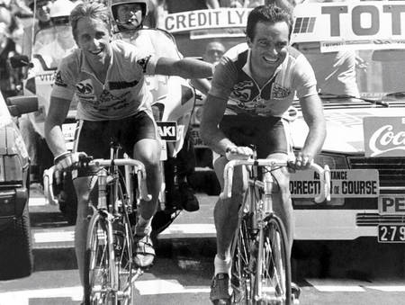 Bernard Hinault and Greg Lemond