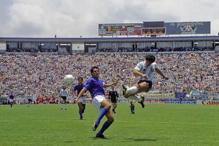 Diego Maradona Coupe du Monde 1986 contre l'Italie