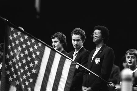 France - Etats-Unis  Coupe Davis 1982