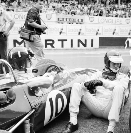 Graham Hill et Jim Clark