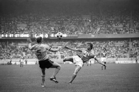 Jean-Michel Larqué St-Etienne-Lens französischer Pokal 1975
