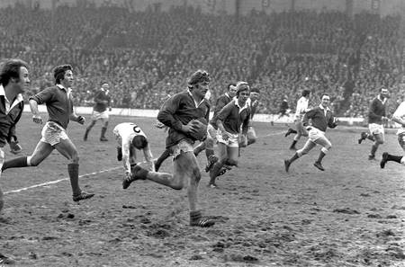 Rugby Match Tournament of the 5 Nations France-England 1972