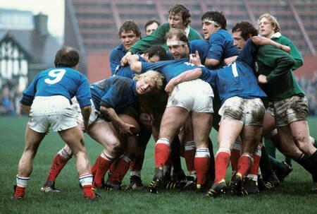 Match rugby tournoi des 5 nations Irlande - France 1977