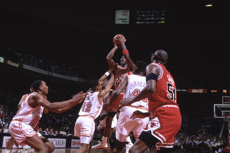 Chicago Bulls 1991 game against Miami Heat