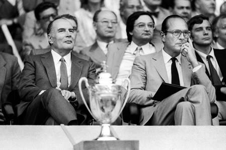 Mitterrand and Chirac PSG-Nantes 1983