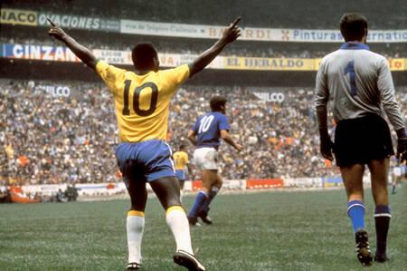 Pelé Brésil-Italie Coupe du Monde 1970