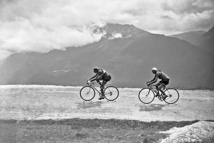 Fausto Coppi Et Gino Bartali Tour De France 1949