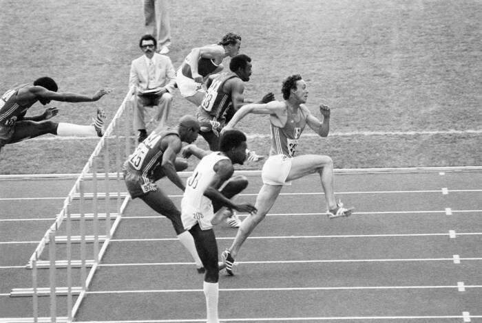 Guy Drut 110 M Haies Jeux Olympiques 1976