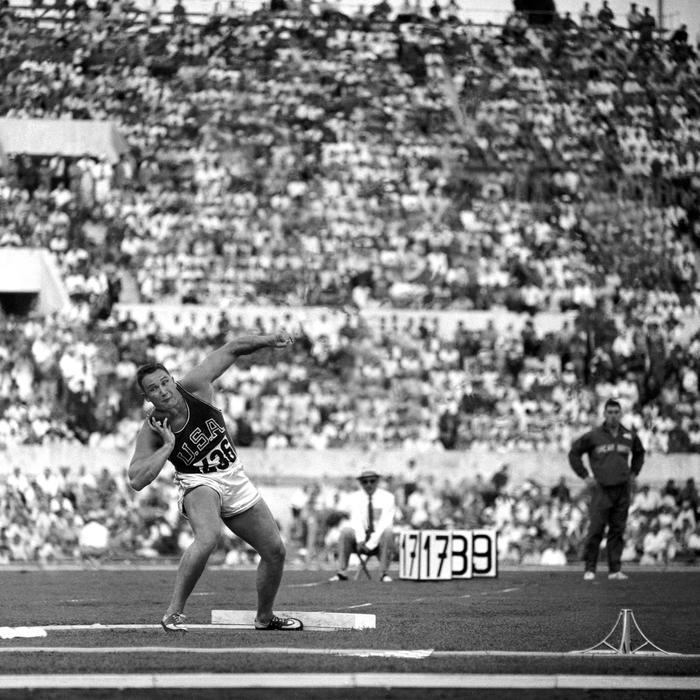 Lancer De Poids Hommes Jeux Olympiques 1960
