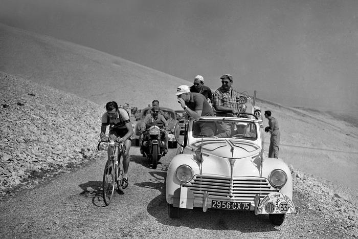 Louison Bobet Et Marcel Bidot Tour De France 1955