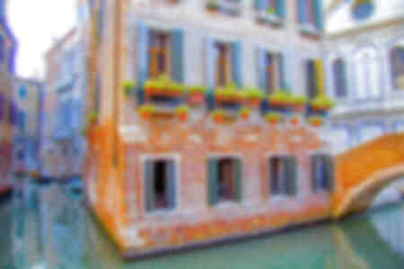 Around a canal in Venice