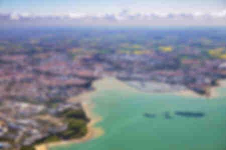 La Rochelle seen from the sky