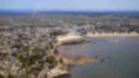 Le Pouliguen visto desde el cielo en la bahía de La Baule