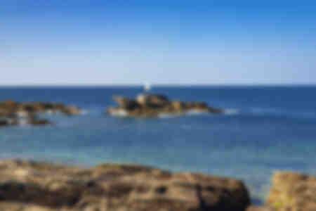 Vaggar av den lösa kusten i Quiberon