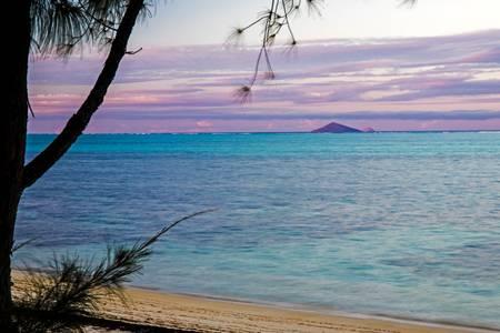 Evening lights Mauritius