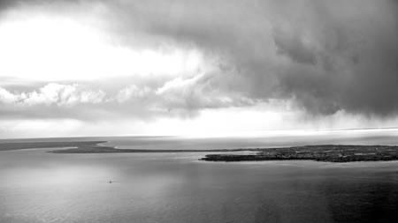 Noimoutier unter dunklem Himmel