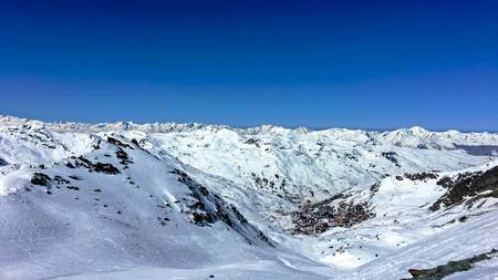 Val Thorens seen from the Cime Caron