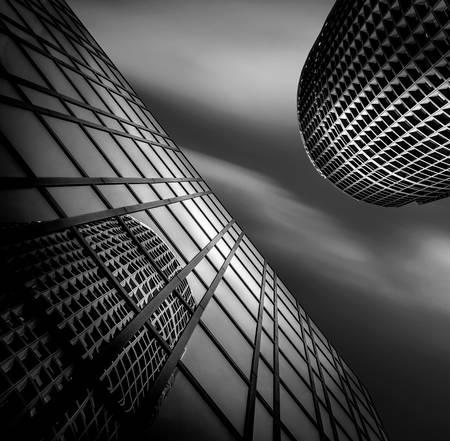 pencil tower reflection Lyon Part Dieu