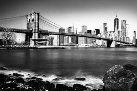 Long exposure on Brooklyn Bridge