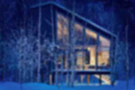 Futuristic architecture in Swedish Lapland