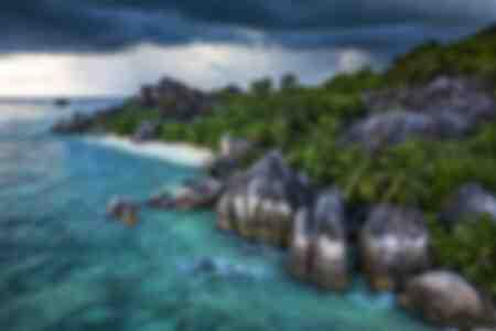 Spiaggia sull'isola di La Digue alle Seychelles