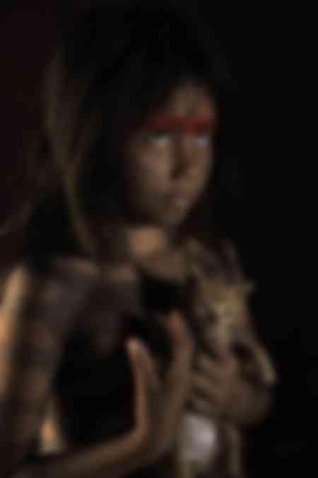 Retrato de una joven Kayapo