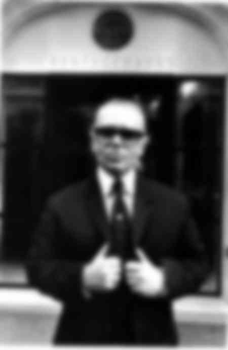 Porträt von Karl Lagerfeld